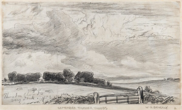 BEVERL(E)Y William Roxy (1811-1889) - 'Thunder Clouds / very dark / Sept.