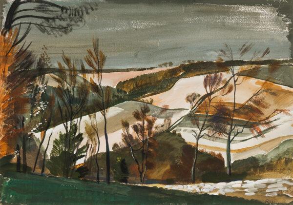 BILIBIN Alexander (1903-1972) - Buckinghamshire landscape.