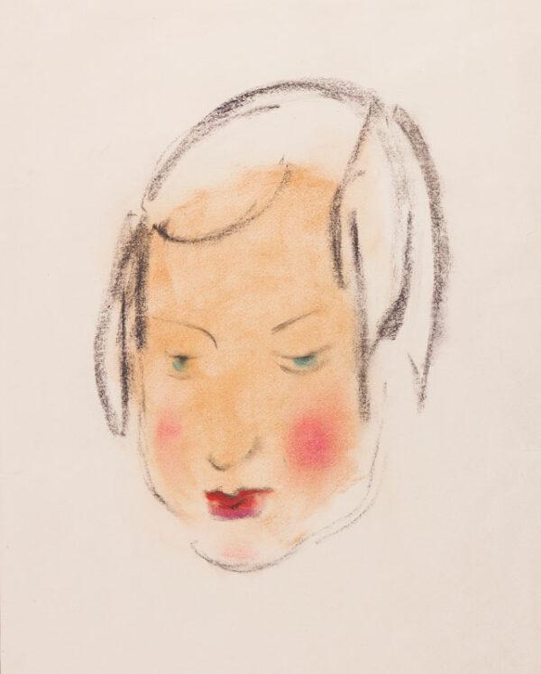 BINDER Pearl (1904-1990) - Head of a girl.