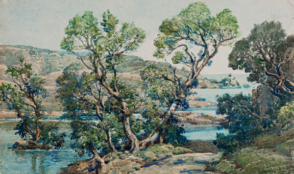 BIRCH Samuel John 'Lamorna' R.A. R.W.S. (1869-1955) - Cornwall.