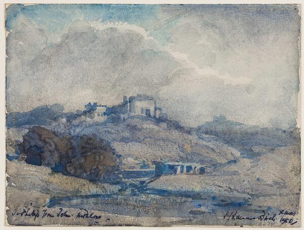 BIRCH Samuel John 'Lamorna' R.A. R.W.S. (1869-1955) - Castle above a river.