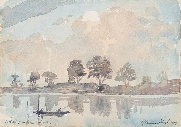 BIRCH Samuel John 'Lamorna' R.A. R.W.S. (1869-1955) - Fishing a river.