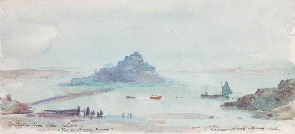 BIRCH Samuel John 'Lamorna' R.A. R.W.S. (1869-1955) - St Michael's Mount.