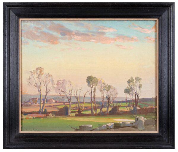BIRCH Samuel John 'Lamorna' R.A. R.W.S. (1869-1955) - 'Frosty evening at Sancreed, near Lands End'.
