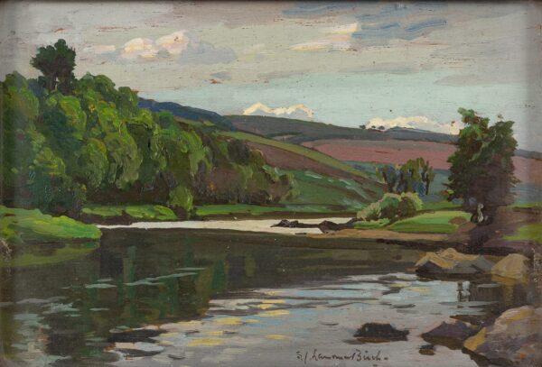 BIRCH Samuel John 'Lamorna' R.A. R.W.S. (1869-1955) - 'On the Don'.
