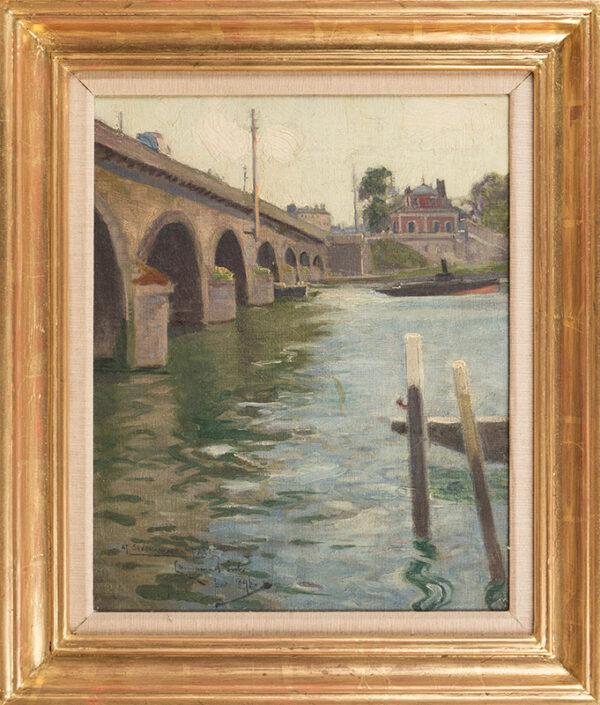 BIRCH Samuel John 'Lamorna' R.A. R.W.S. (1869-1955) - 'Le Pont de Sevres'.