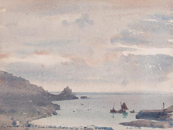 BIRCH Samuel John 'Lamorna' R.A. R.W.S. (1869-1955) - A West County harbour.
