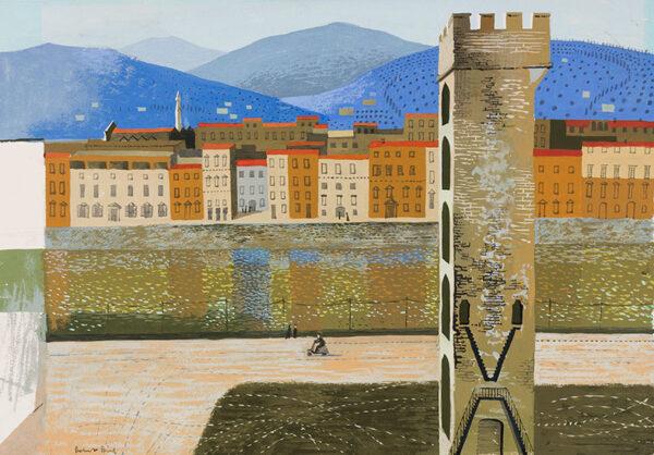 BIRD Robert (b.1921) - The lungarno, Pisa.