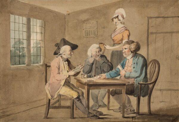 BIRD Edward (1772-1819) - The Card players.