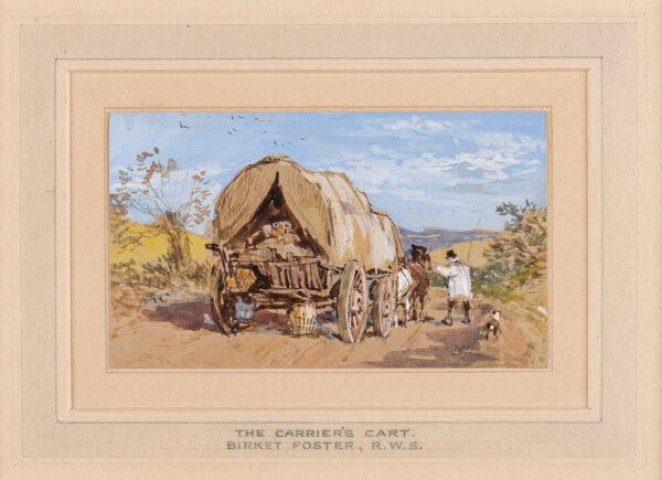 BIRKET FOSTER Myles (1825-1899) - The Carrier's Cart.