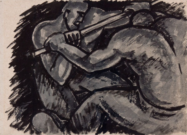 BISSILL George (1896-1973) - 'Miners wringing coal'.