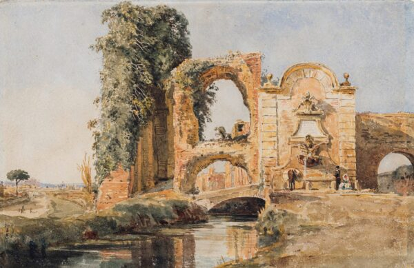 BLAKE Miss (Fanny) Frances (1804-1879) - Italy: 'Porta Turbia/ Acquaducts in the Campagna, Rome'.