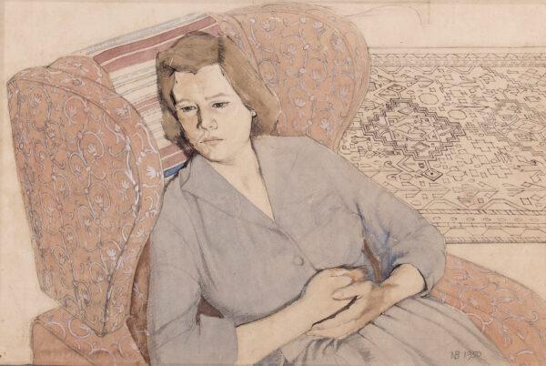 BLAMEY Norman O.B.E. R.A. (1914-2000) - Margaret Kelly, the artist's wife.
