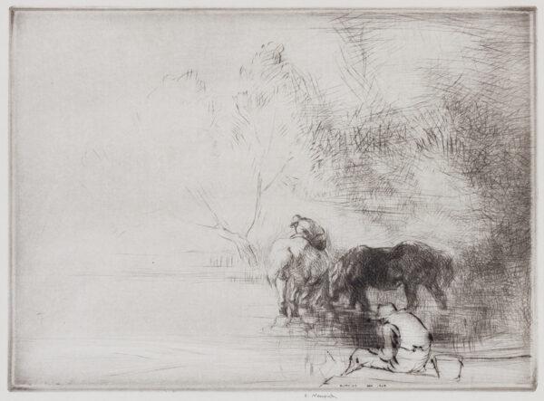 BLAMPIED Edmund R.B.A. R.E. (1886-1966) - 'Misty Morning'.