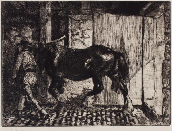 BLAMPIED Edmund R.B.A. R.E. (1886-1966) - The Stable.