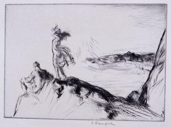 BLAMPIED Edmund R.B.A. R.E. (1886-1966) - Above the Sea.