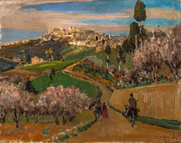 BLAND Emily Beatrice N.E.A.C. (1864-1951) - Tuscan Hill Town.