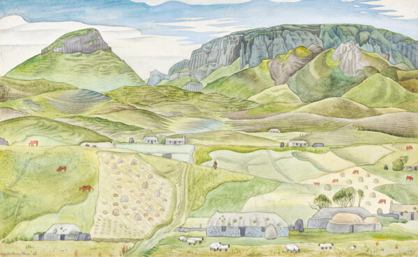 BLISS Douglas Percy S.W.E. R.B.A (1900-1984) - 'Crofts in the Quairang, Isle of Skye'.