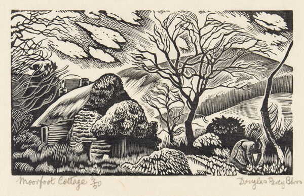 BLISS Douglas Percy S.W.E. R.B.A (1900-1984) - 'Moorfoot Cottage'.