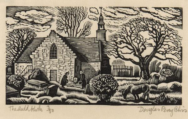 BLISS Douglas Percy S.W.E. R.B.A (1900-1984) - 'The Auld Kirk'.
