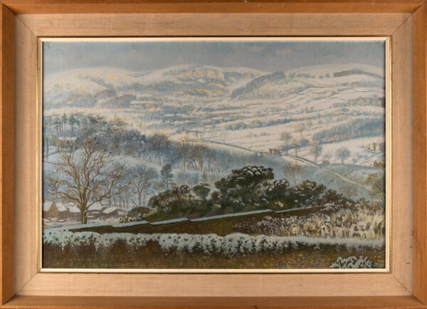 BLISS Douglas Percy S.W.E. R.B.A (1900-1984) - 'Ecclesbourne Valley in the snow'.