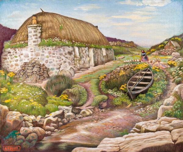 BLISS Douglas Percy S.W.E. R.B.A (1900-1984) - 'Hebridean Cottage'.