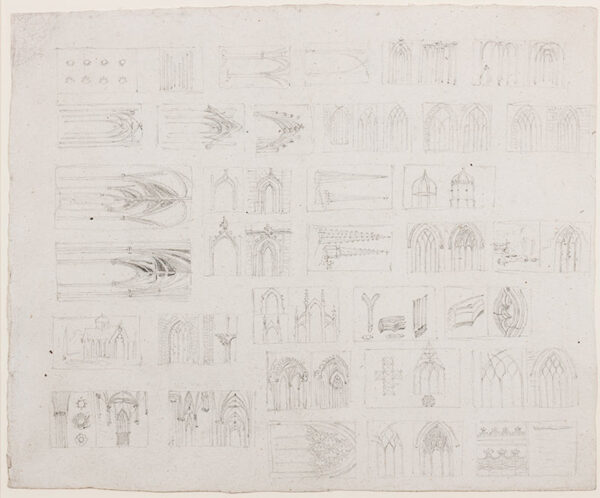 BLORE Edward (1787-187) - Architectural studies.
