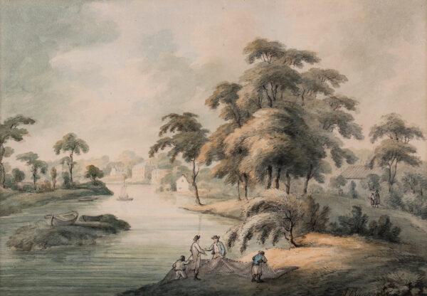 BLUCK J (fl. 1791-1819) - The Thames at Hampton.
