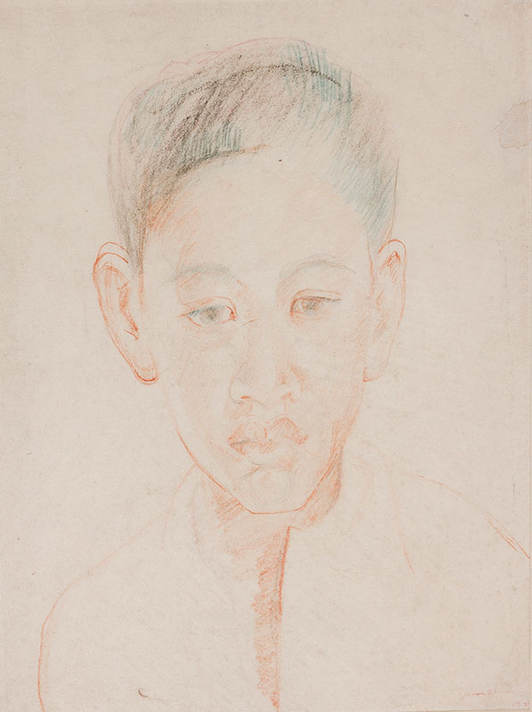 BLUM Jerome (1884-1956) - Boy, Tahiti.