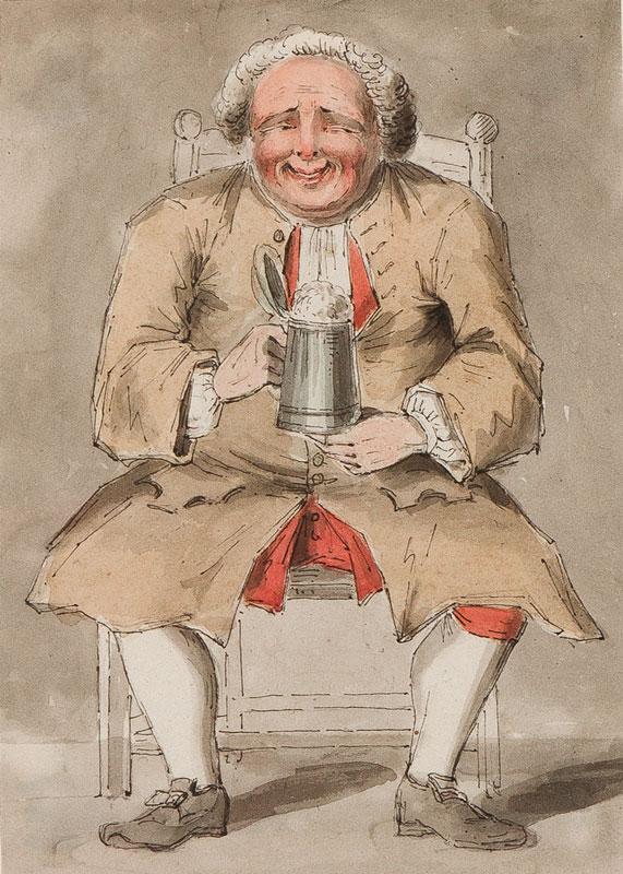 BOITARD Louis Philippe (fl.1734-1760) - Pen, ink and watercolour.