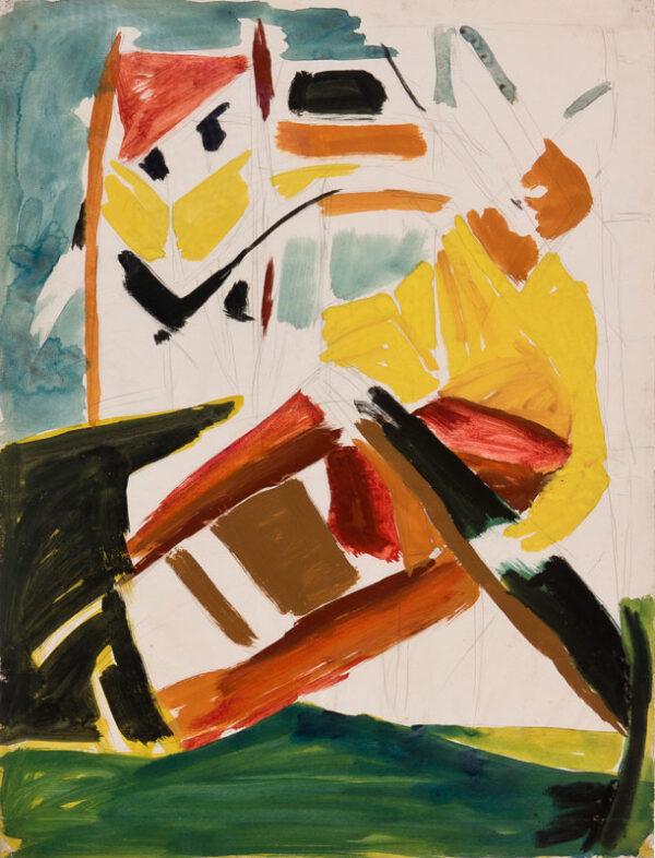 BOMBERG David L.G. N.S. (1890-1957) - Imaginative Comp- osition: Bargee.