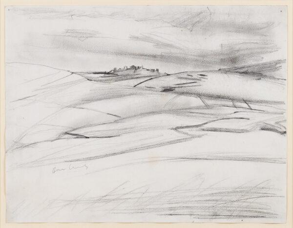 BOMBERG David L.G. N.S. (1890-1957) - Landscape, Palestine.