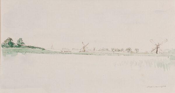 BONE Sir Muirhead N.E.A.C. (1876-1953) - Holland: windmills and water.