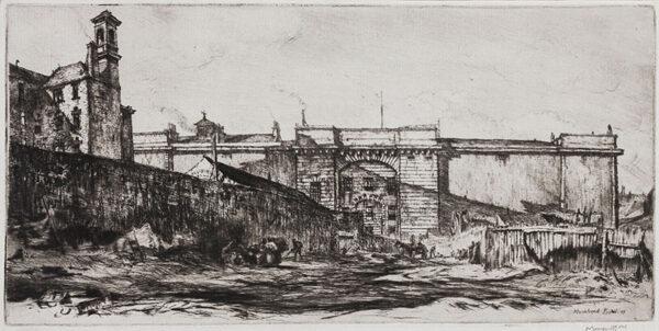 BONE Sir Muirhead N.E.A.C. (1876-1953) - The Old Jail, Glasgow (CD44).