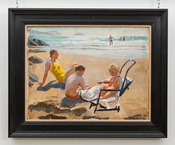 BONE Stephen N.E.A.C. (1904-1958) - The artist's family on a Pembrokeshire beach.