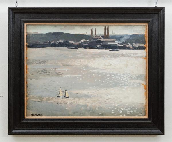 BONE Stephen N.E.A.C. (1904-1958) - 'Sunlight on Vartan, Stockholm'.