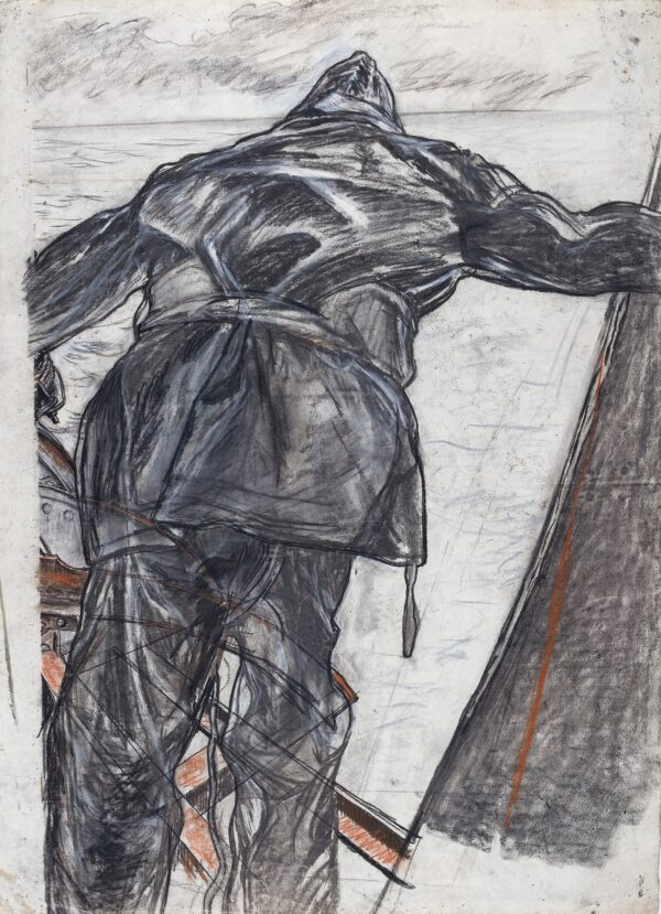 BONE Sir Muirhead N.E.A.C. (1876-1963) - Study for 'Winter Mine-laying, off Iceland' (Imperial War Museum).
