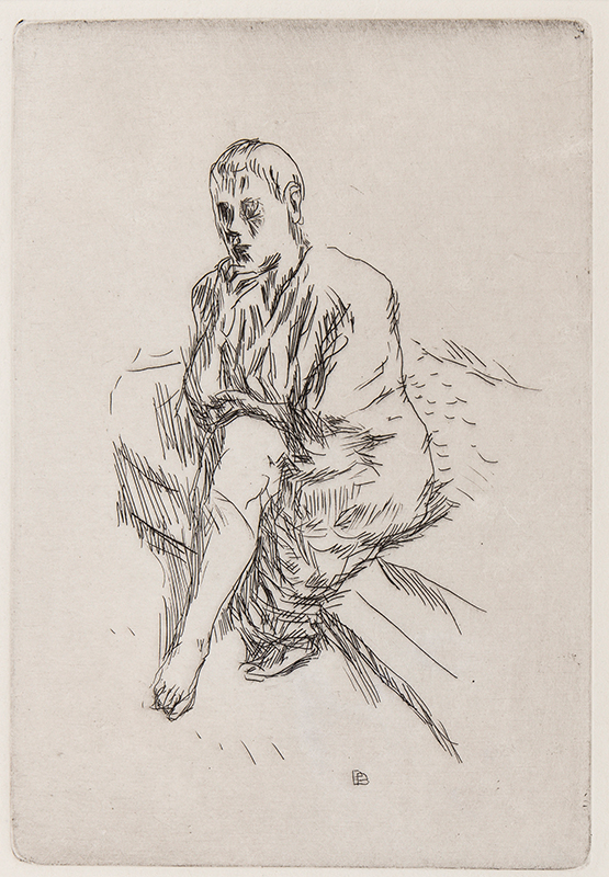 BONNARD Pierre (1867-1947) - Seated figure.