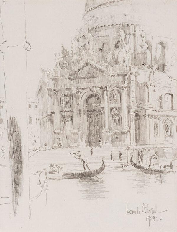 BOREEL Wendela (1895-1985) - The Salute, Venice.