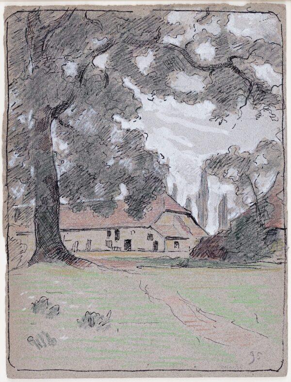BOURGEOIS-BORGEX Louis (1873-1959) - Farm buildings, Northern France.