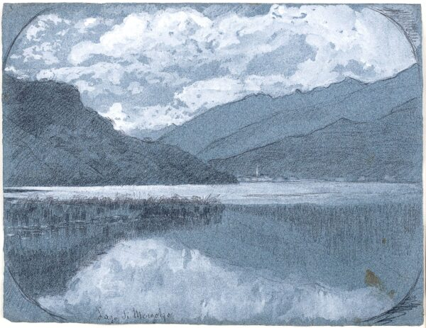 BORGEOIS BORGEX Louis (1873-1959) - 'Lago di Mergotzo' (sic Mergozzo), West of Lago Maggiore.