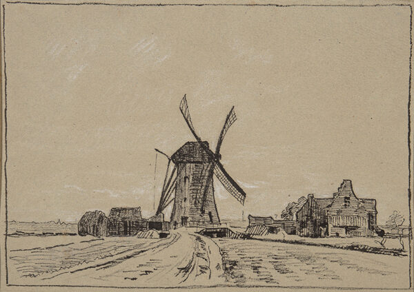 BOURGEOIS-BORGEX Louis (1873-1959) - Windmill, Northern France.