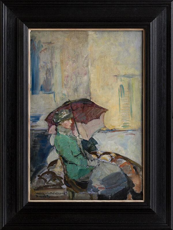 BOROUGH JOHNSON Ernest (1866-1949) - 'Sketch of Esther at Mentone'.