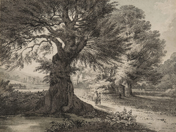 BOURNE Rev. James (1773-1854) - 'Croyden Near Haylin (sic Haling) Park'.