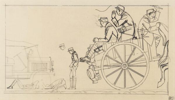 BOUTET de MONVEL Bernard (1881-1949) - Poilu on the road.