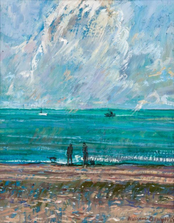 BOWYER William R.A. (b.1926) - View off Aldeburgh beach.