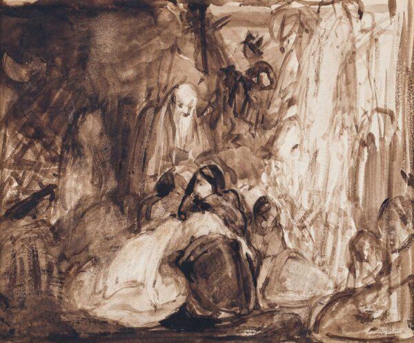 BOXALL Sir William R.A. (1800-1879) - A night scene.