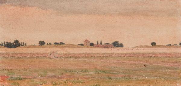BOYCE George Price R.W.S. (1858-1911) - 'Dorchester (on Thames), Oxfordshire'.