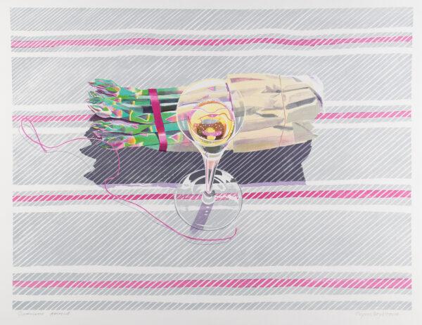 BOYD HARTE Glynn (1948-2003) - 'Asparagus and Champagne'.