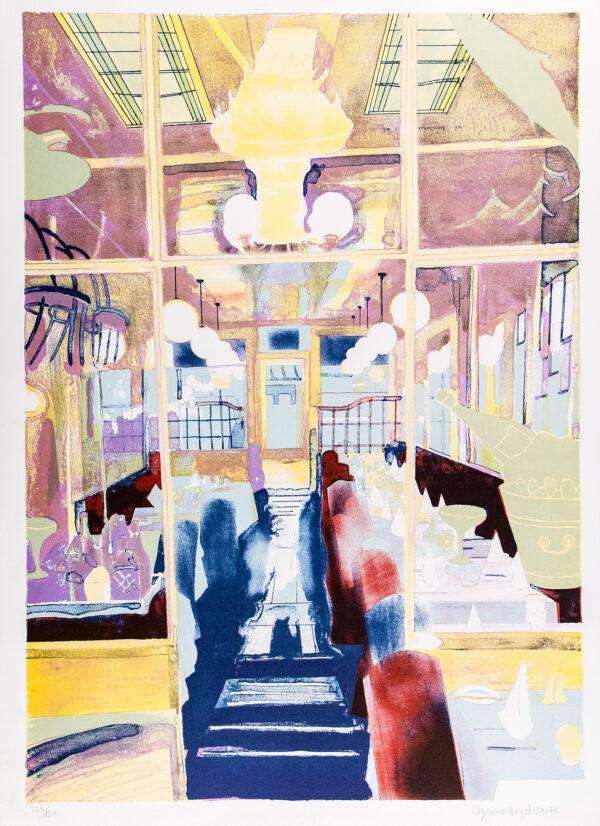 BOYD HARTE Glynn (1948-2003) - 'Interior at Elena's', 'L'Etoile', Charlotte Street.